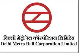 DMRC contrCt based job Ncr for 10,12 and etc. job M/F