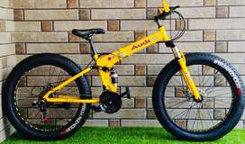 Fat tyre foldable bicycle