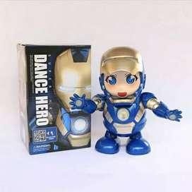 MAINAN ROBOT IRON MAN DANCING ROBOT DANCE ROBOT HERO DANCE ROBOT