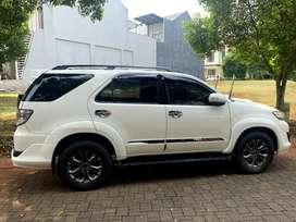 Toyota fortuner G TRD turbo 2014 putih siap pakai!!!