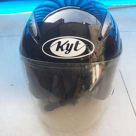 Helm KYT Galaxy Black Glossy