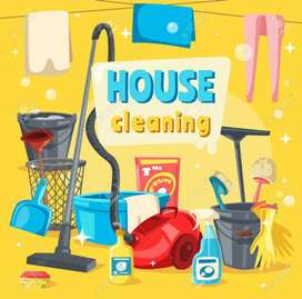 House Cleaning ke leye house keeping ladke chahye