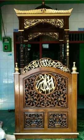 mimbar masjid model sekarang musola