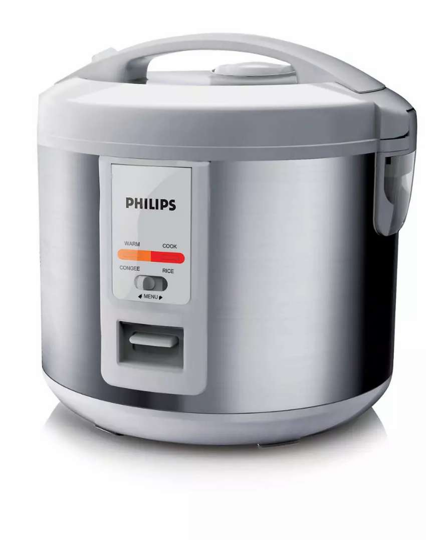 Philips Daily Collection Variety Rice Cooker HD3027 (Silver) 0