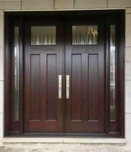 Pintu dan kusen kayu