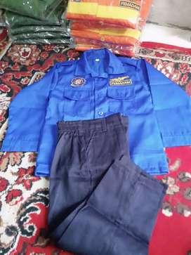 Seragam pemadam anak TK biru