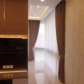 Gordyn Gorden Rumah Wallpaper Vitrase Dekorasi Indah Blinds, 126