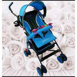 Stroller pliko warna biru