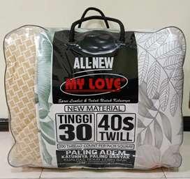 Bed Cover & Sprei Motif MY LOVE Set Ukuran 180x200 Harga Grosir Murah