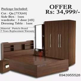 Wooden bedroom package offers