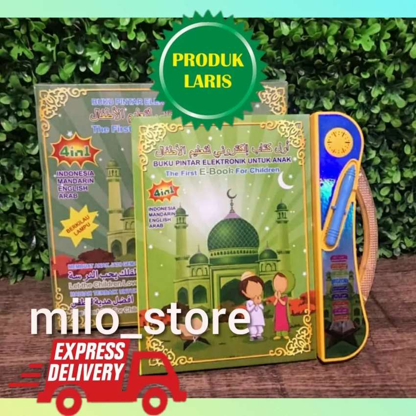 Buku edukasi anak muslim 4 bahasa mainan versi terbaru 0