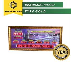 Jual Limited Edition Jam Digital Masjid Elegan Tipe Gold