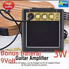 Amplifier Gitar Mini PG-3 Clean & Distorsion 3W Ampli mini