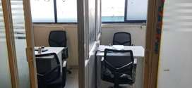 Office with 2 MD cabin & 15 seats call center for rent Near Begumpet