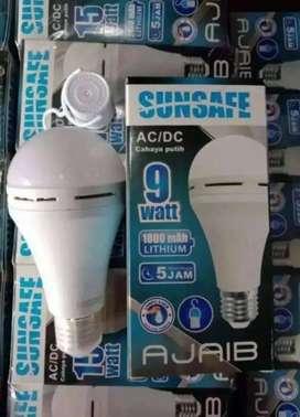 PROMO-LAMPU EMERGENCY 9W SUNSAFE LUBY LAMPU DARURAT 9WATT PUTIH