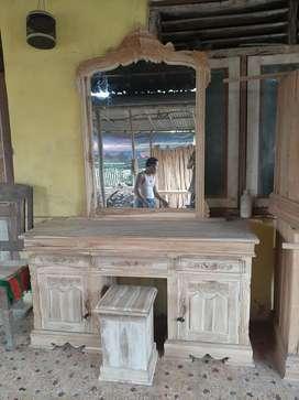 free ongkir tanpa dp pembayaran COD meja rias kaca cermin yuli