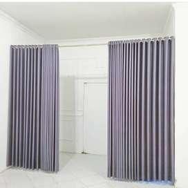 Gorden dan Wallpaper Desain Minimalis Rumah Kantor Hordeng Korden    .