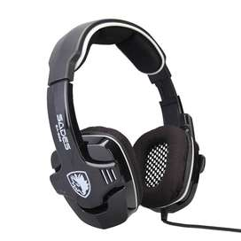 Sades Gaming Headset Headphone compatible for Xbox 360, Xbox One, PC