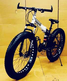 New M.T.B Dzire Fat Bike Foldable Cycle With 21 Shimano Tourney Gear