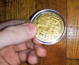 Souvenir Koin Bitcoin Phisik