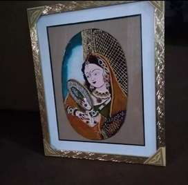 Glass Painting on mugal art hand made painting