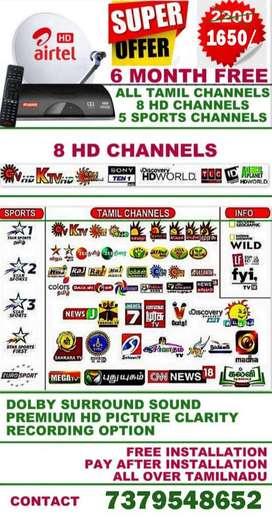 AIRTEL DTH HD BOX HD PACK Tata sky Tatasky SUN Tamil Best Offer
