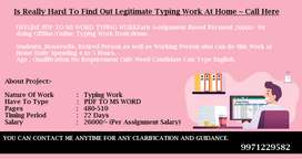 Non - Stop Income Via Computer/Laptop Siting At Home -- Typing Work