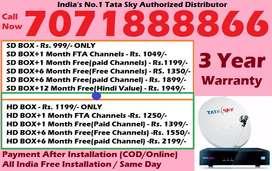 Bapatla Distributor Tata Sky DTH - Tatasky D2H Dishtv Videocon Dish