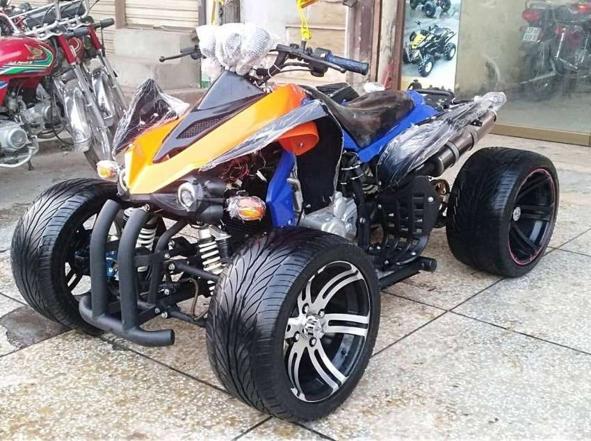 Road Grip Tyre Sports Alloy Rims 250cc Low Profile ATV Quad 0