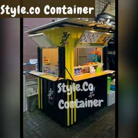 BOOTH SEMI CONTAINER | CONTAINER USAHA KEDAI KOPI | CONTAINER CAFE