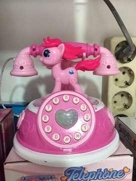 Mainan anak telponan kuda poni