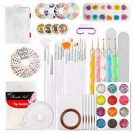 Nail art tools whole range . for professional complete kit.
