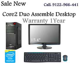 Sale New Core 2 Duo Desktop With 15.4' LED HD Monitor 1Year Warranty