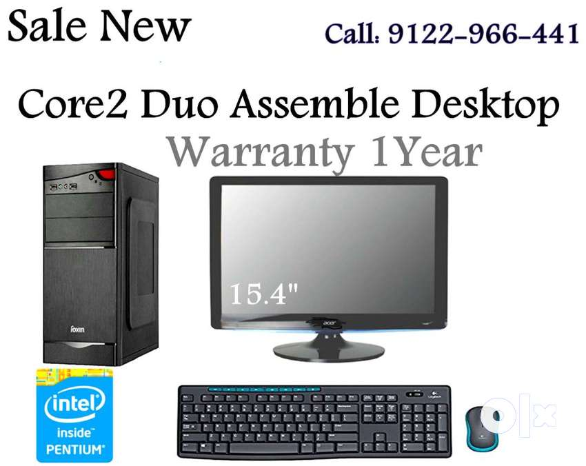 Sale New Core 2 Duo Desktop With 15.4' LED HD Monitor 1Year Warranty 0