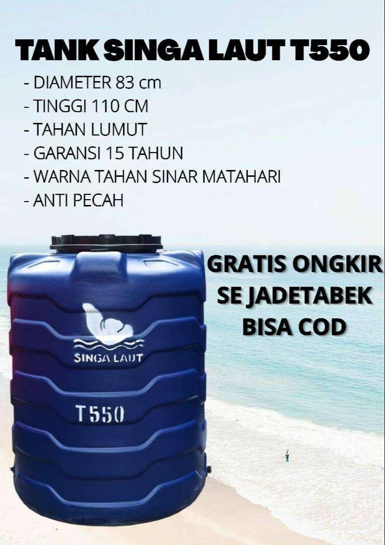Tandon air plastik 550 ltr garansi 10 thn