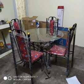 Meja makan kursi 4 meja kaca