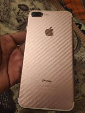 iphone 7 plus 128 GB 1 year use bill, box, new chargee