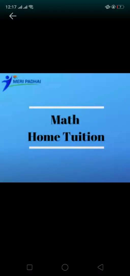 Tutor available for maths 1.5th class to inter. 0