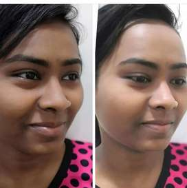 Skin transformation by expert cosmetologist...