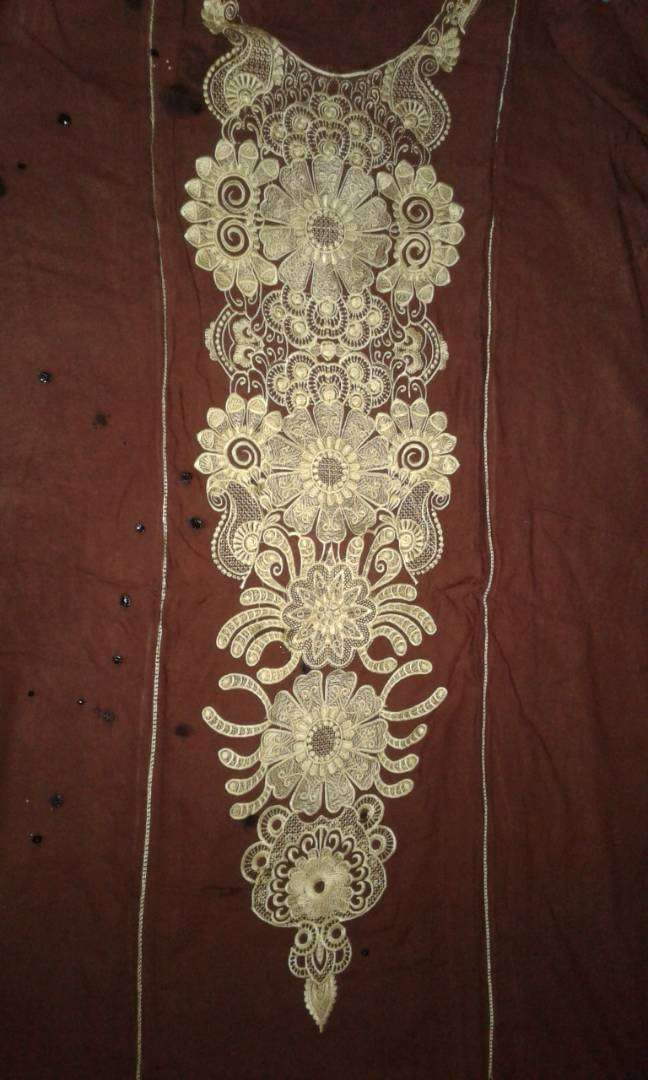 Heavy Embroidered  Linen Shirt 0