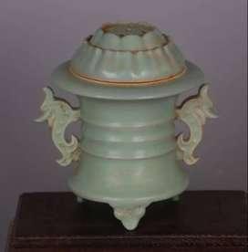 Keramik Antik Song Ru Klin Seladon Dupa Burner