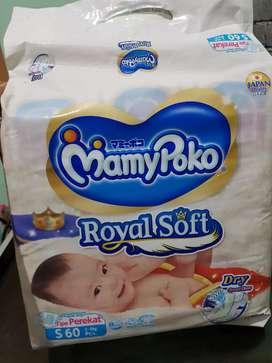 Mamy poko royal soft S 60 tipe perekat diapers bayi newborn