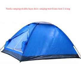 Tenda camping double layer door camping tent Dome tent 2 orang