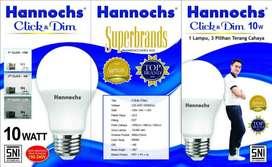 Lampu Hannochs Click & Dim 10W 4W 1,5W