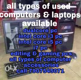 all type of used computers and accessories