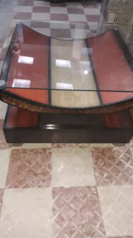 Fancy glass table for sale 3 month old I have no space then I sale