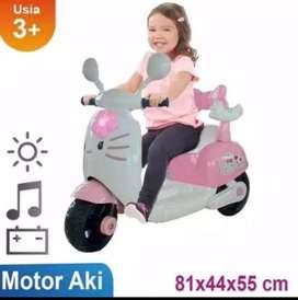 Mainan anak motor aki kitty