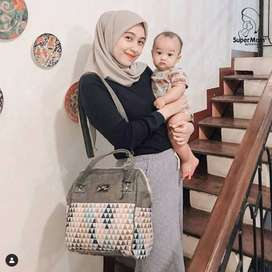 Dialogue Supermom Tas Ibu Diapers Bag Tas Bayi + TBS City Girls TMB002
