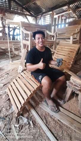 Grosir Kursi Santai Kolam Renang Lounger Jati, free ongkir