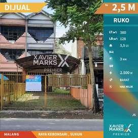 Dijual Ruko SHM 3 Lantai Luas Banget di Jalan Raya Kebonsari Sukun